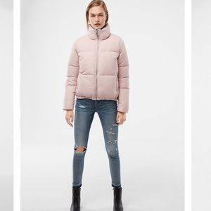 NWOT pink puffer jacket